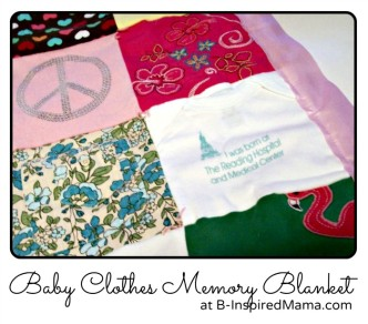 Baby Clothes Memory Blanket at B-InspiredMama.com