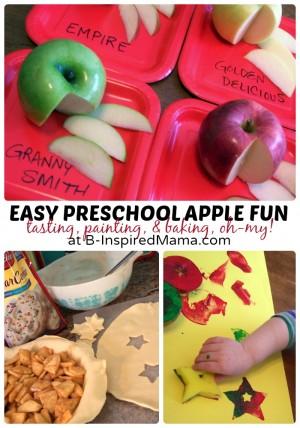 Easy Preschool Apple Fun at B-Inspired Mama