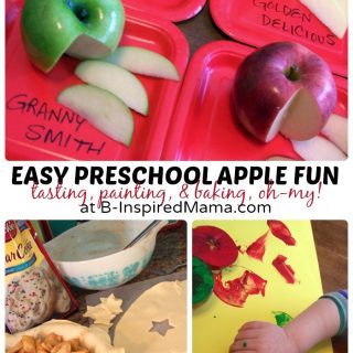 Easy Preschool Apple Fun at B-Inspired Mama