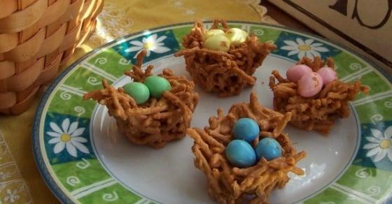 Easy Butterscotch Nest Candy