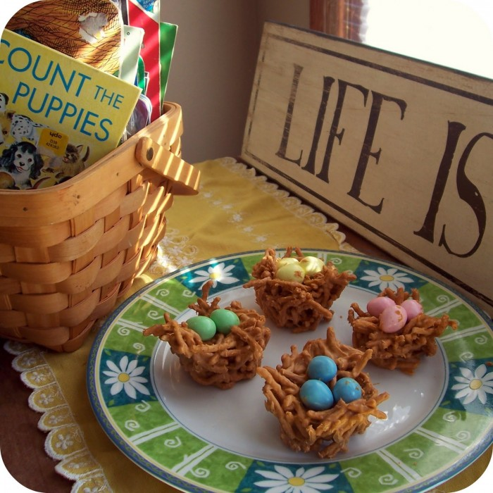 EASY Butterscotch Nest Candy - An Easter Recipe from B-InspiredMama.com