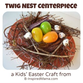 Twig Nest Easter Craft at B-InspiredMama.com
