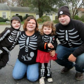 Our DIY Skeleton Family Halloween Costumes - B-Inspired Mama