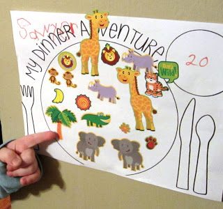 Dinner Adventure - A Fun Printable Sticker Chart for Picky Eaters