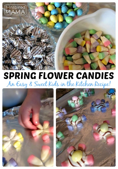 Spring Flower Candy - A Kids in the Kitchen Recipe from B-Inspired Mama