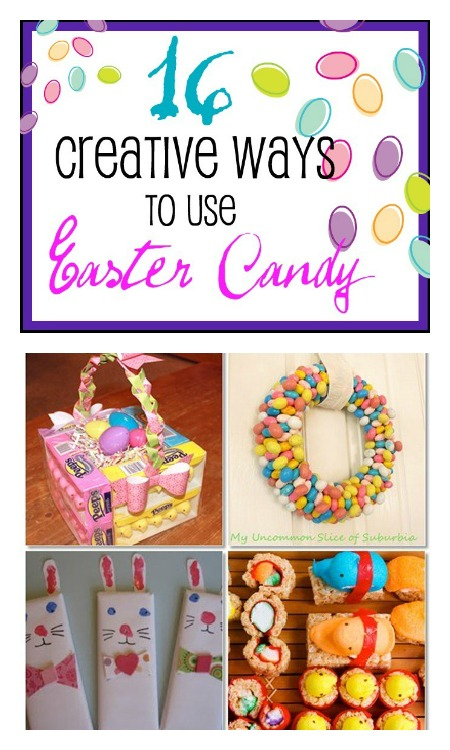16 Uses for Easter Candy at B-InspiredMama.com