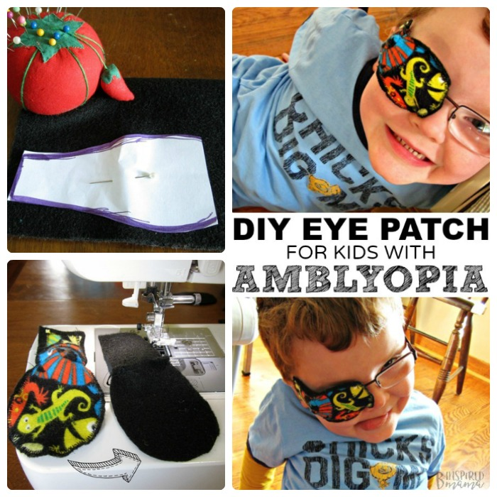 DIY Eye Patches for Kids with Amblyopia - an easy sewing tutorial anyone can make - at B-Inspired Mama