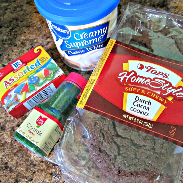 Ingredients for Easy Earth Day Cookies from B-InspiredMama.com