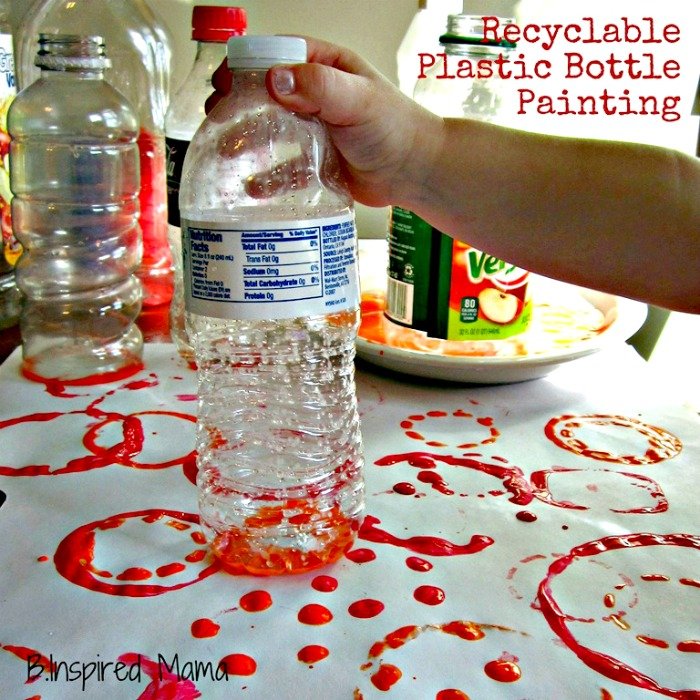 Plastic bottle print paintings b inspired mama for Craft paint safe for babies