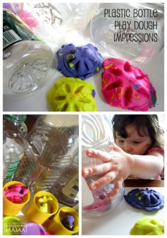 Play Dough Fun with Recycled Plastic Bottles - at B-Inspired Mama
