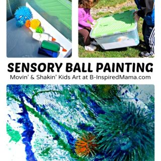 Sensory Ball Kids Painting at B-Inspired Mama