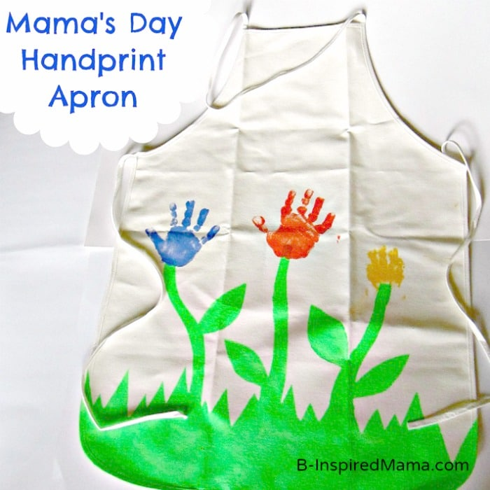 Hand Print Flower Apron for Mom