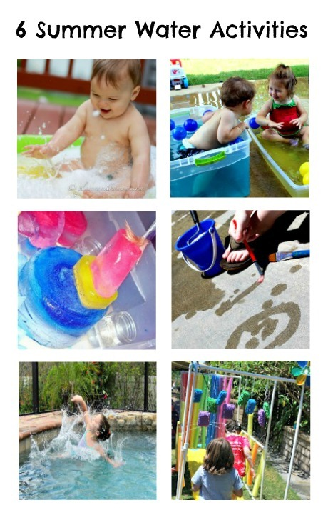 6 Summer Water Activities from The Kids Co-Op at B-InspiredMama.com
