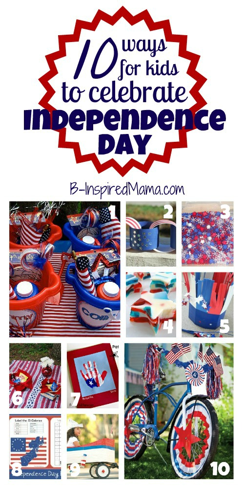 Kids 4th of July Celebration Ideas at B-InspiredMama.com