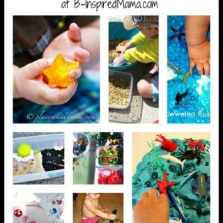 Messy Sensory Activities from The Kids Co-Op at B-InspiredMama.com