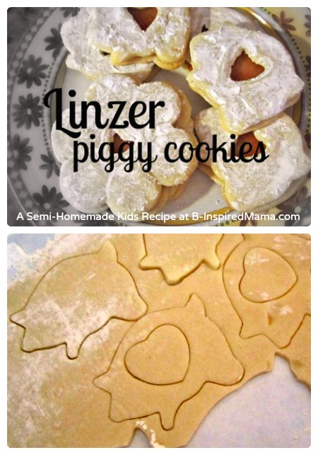 Semi-Homemade Linzer Piggy Cookies - A Kids in the Kitchen Recipe at B-Inspired Mama