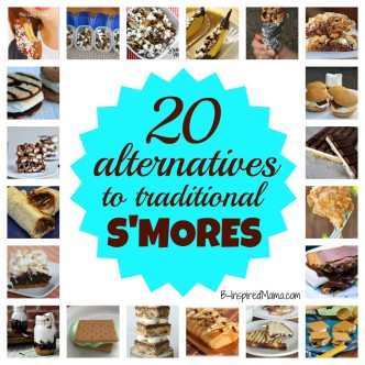 20 Alternatives to Traditional S'Mores at B-InspiredMama.com