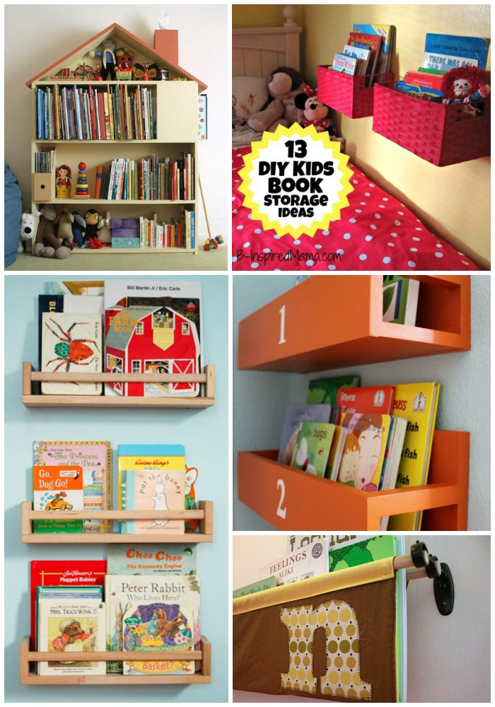 DIY Wall Book Display Ideas At B Inspired Mama