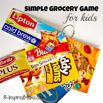 Grocery Game for Kids at B-InspiredMama.com