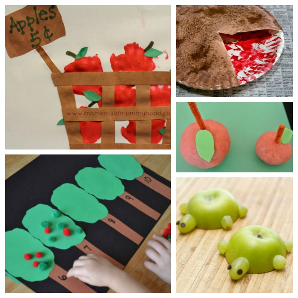 5 Cute Fall Apple Crafts for Kids