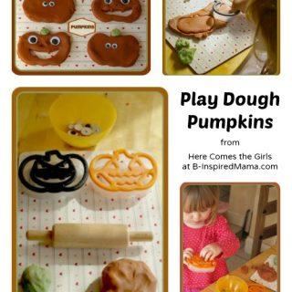 Play Dough Pumpkins at B-Inspired Mama