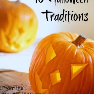 10 Halloween Traditions from REAL Moms at B-InspiredMama.com