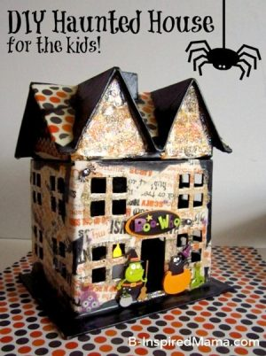 A Mod Podge Haunted House Kids Craft for Halloween at B-Inspired Mama