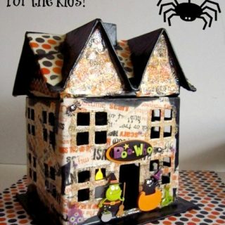 Haunted House Kids Craft [with Mod Podge]