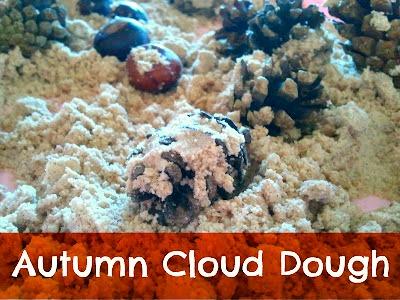Autumn Cloud Dough Sensory Activity at B-Inspired Mama