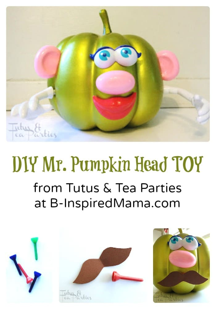 Make Mr Pumpkin Head Pieces for Kids Pumpkin Decorating at B-Inspired Mama