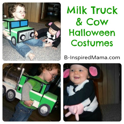 Milk Truck and Cow Handmade Halloween Costumes