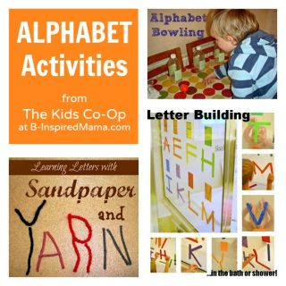 3 Alphabet Activities from The Kids Co-Op at B-InspiredMama.com
