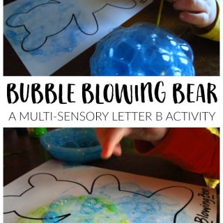 Bubble Blowing Bear Letter B Activity for Preschoolers