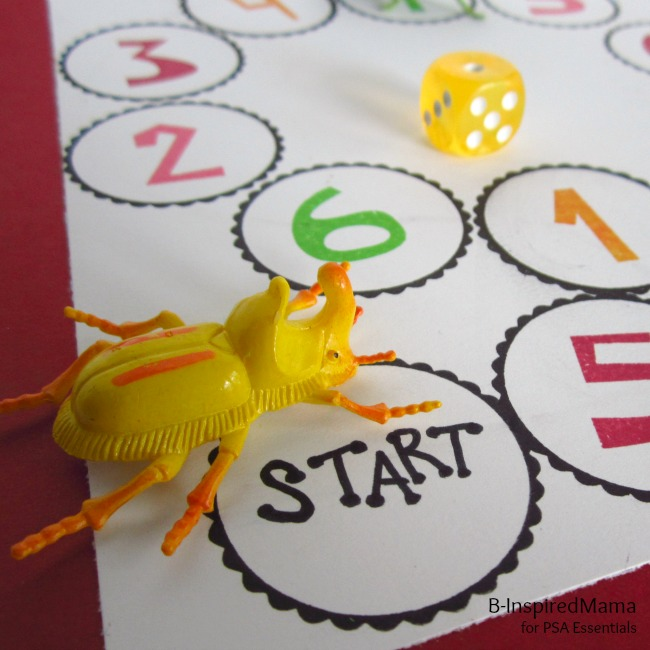 Make a Game for Number Learning at B-InspiredMama.com