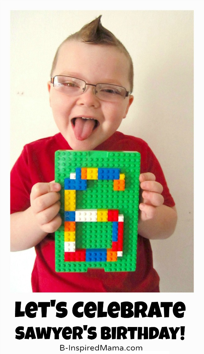 Sawyer's Lego Birthday Party Invitation at B-Inspired Mama