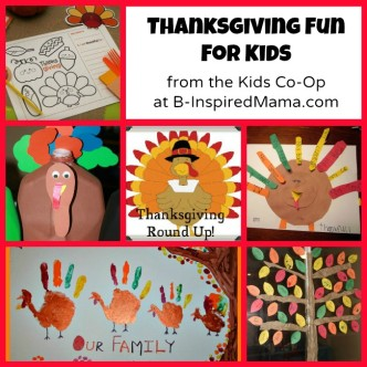 Thanksgiving Kids Activities from the Kids Co-Op at B-InspiredMama