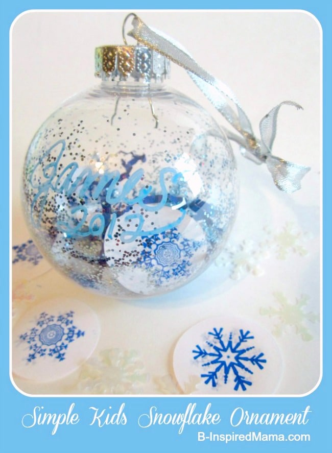 Easy Ornaments for Preschoolers at B-Inspired Mama