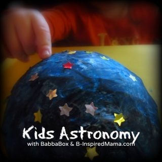 Kids Astronomy Paper Mache Night Light Craft from BabbaBox at B-Inspired Mama
