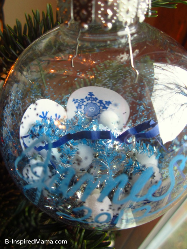 Kids Snowflake Ornament Craft from B-InspiredMama.com at Naptime Creations