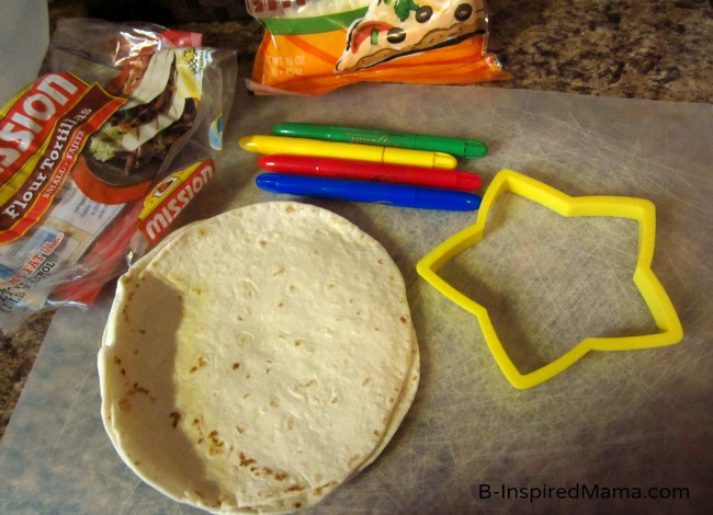 Kids Star Quesadilla Snack Ingredients at B-InspiredMama