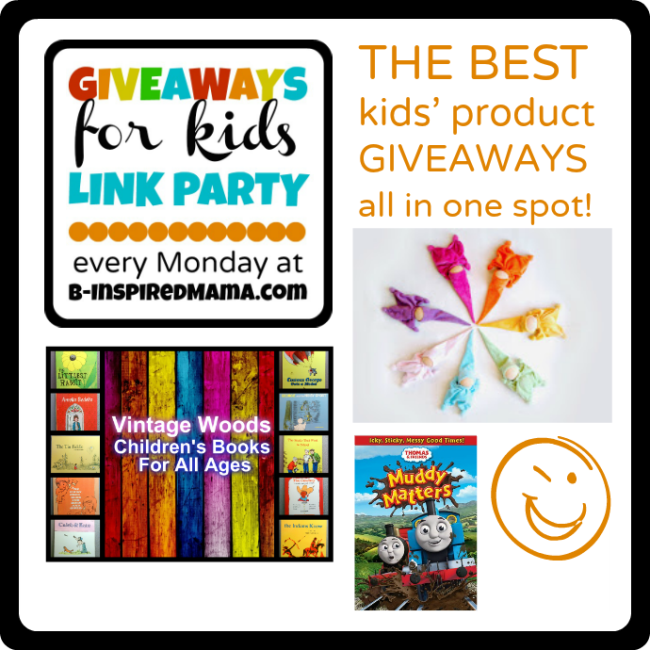 1-14 Giveaways for Kids Link Party Mondays at B-InspiredMama