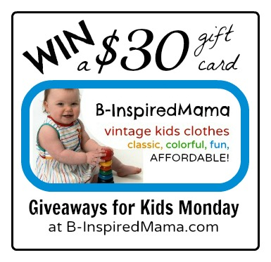 B-InspiredMama Vintage Kids' Clothes Giveaway at B-InspiredMama.com
