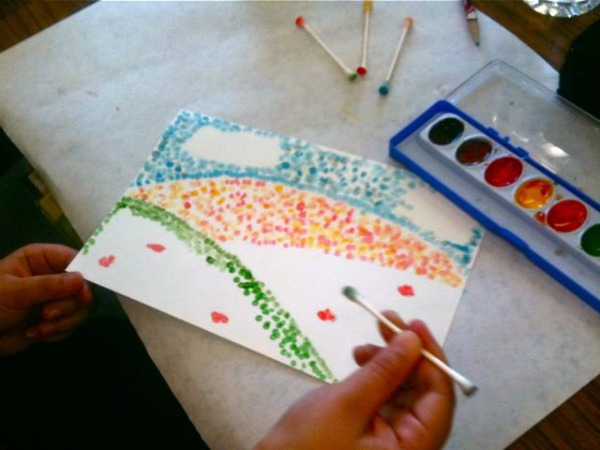 Seurat Inspired Pointillism Art from This Mama Makes Stuff