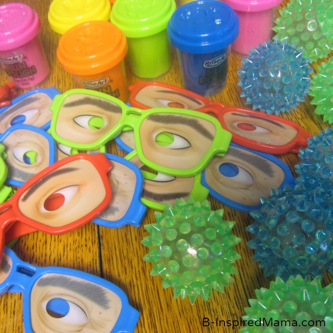 Colorful First Birthday Party Favors at B-InspiredMama.com