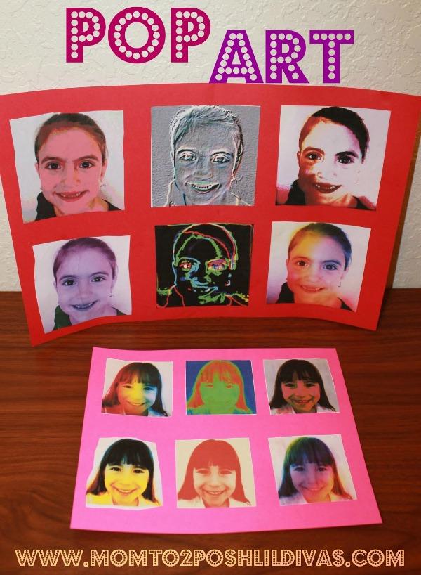 Warhol Inspired Pop Art Portraits from Mom to 2 Posh Lil Divas