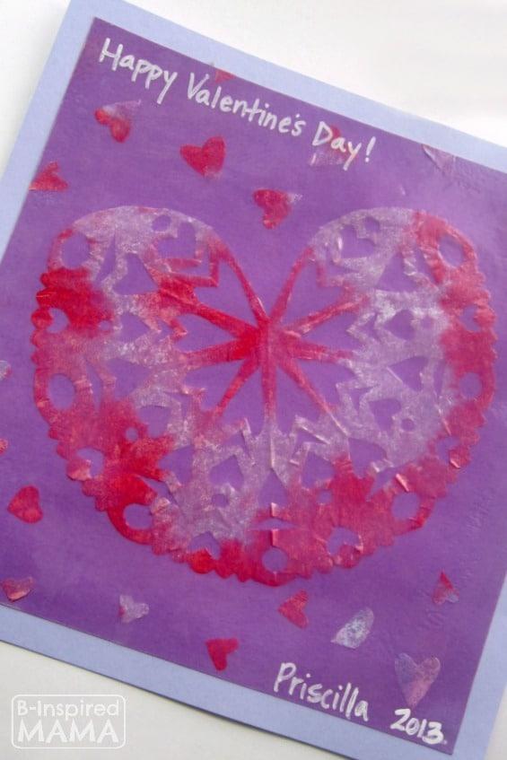 Snowflake Heart Valentine Craft at B-Inspired Mama