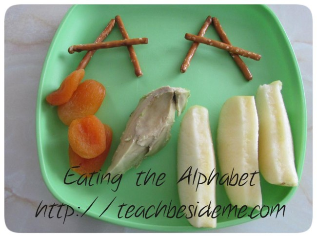 Eating the Alphabet Letter A Lunch from Teach Beside Me at B-InspiredMama.com