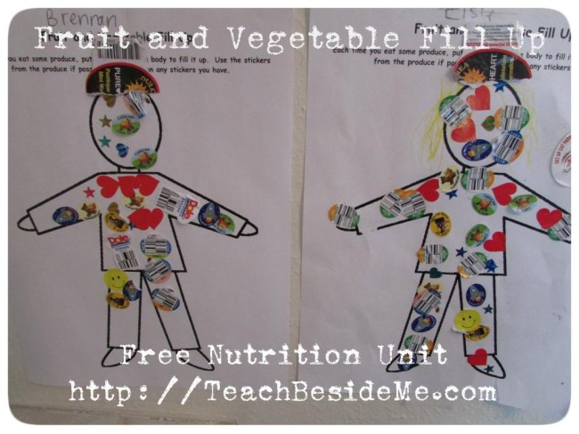 Fruit and Vegetable Fill Up from Teach Beside Me at B-InspiredMama.com