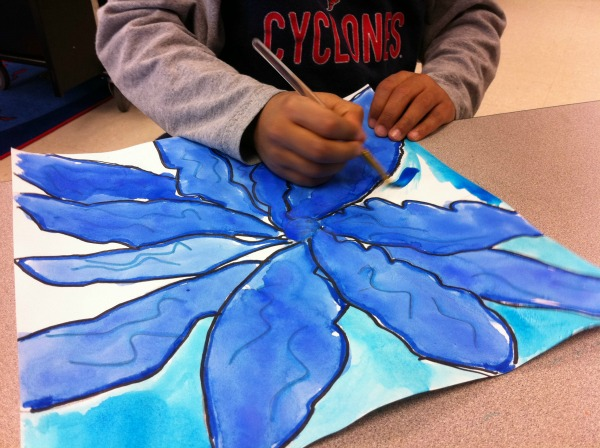 Georgie O'Keefe Flower Painting for Kids from The Art of Ed