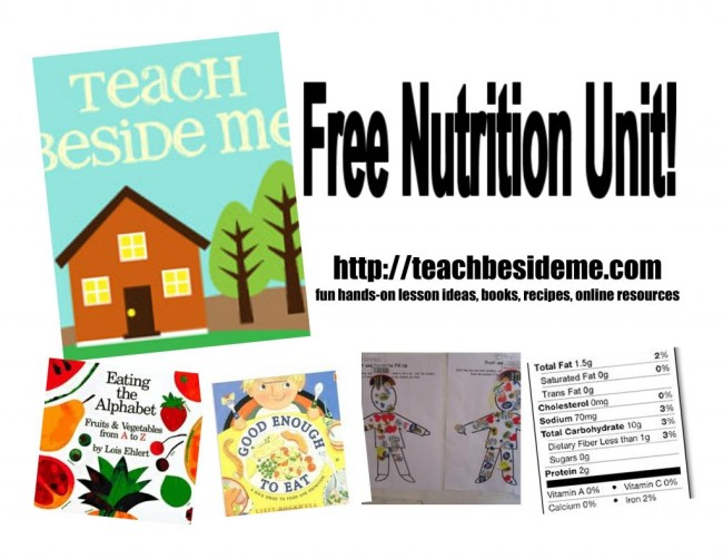 Free Nutrition Unit from Teach Beside Me at B-InspiredMama.com
